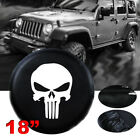 "18"" skull Spare Wheel Cover For Jeep Wrangler black 33"" 34"" size XXL tire cover"