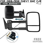 Pair For 88-98 Gmc Chevy C/K Pickup Truck Side View Manual Mirrors Telescoping