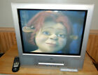 JVC TV-20F243 20 inch Flat CRT Color TV VCR Combo TV VHS Combo with Remote