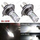 2Pcs H4 80W Cree White Headlights Bulbs For Ski-Doo Renegade (all models) 10-15
