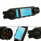 7Pin 12V Black Car Trailer Tester Diagnostic Plug Socket Connection Tool