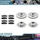 [Front Rear] Brake Rotors & Metallic Brake Pads For 2001-2003 Acura CL