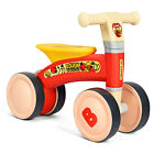 Kids Balance Bike No Pedal 4 Wheels Baby Learn to Walk Bicycle Best Gift Red