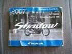 Honda Shadow Spirit VT750DC factory owners manual 2007