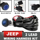 Universal Wiring Harness Kit 12V 40AMP Relay ON/OFF Switch - Jeep LED Light Bar