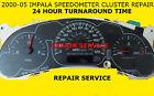 2002 Impala Monte Carlo  SPEEDOMETER GM  GAUGE CLUSTER REPAIR