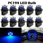 10Pack PC194 Instrument Panel Cluster Twist Lock Wedge Dash Led Light Bulb