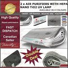 2 x Air Purifier With HEPA Nano TiO2 UV Lamp for mold Asthma relief fresh air