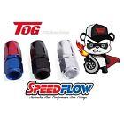 Speedflow 100 Series Hose End STRAIGHT 8AN AN8 Dash -8 101-08 RED/BLUE