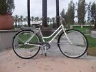 SCHWINN Ladies Cream Bicycle Cruiser Townie w Electra Saddle Rear Rack Vintage