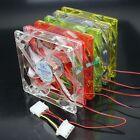 5 Colors LED 12V 4Pin 120mm x 25mm Brushless DC Computer Case Cooling Fan 12cm