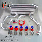 FOR NISSAN SKYLINE R32 R33 R34 GTS-T FRONT INTERCOOLER KIT PIPING PIPE KIT RED