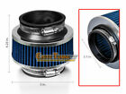 """2.5"""" 63mm Inlet Cold Air Intake Universal ByPass Valve Filter BLUE For GM"""
