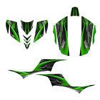 KFX 700 graphics Quad racing deco kit for Kawasaki KFX700 NO3333 green