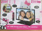 "Hello Kitty 19"" LED TV 720p 60Hz -New in Box-  Free Shipping & No Tax"