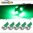 5PCS 5-5050-SMD Green T10 W5W 2825 LED Bulbs for cab marker clearance lights HOT