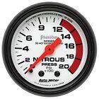 AutoMeter 5728 Phantom Mechanical Nitrous Pressure Gauge