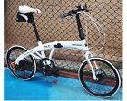 "New Hot White 20"" Inch SHIMANO 7 Speed Folding Foldable Bike Bicycle Disc Brake"