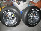 """70's set of 2 VINTAGE/dodge-CRAGAR RIMS and tires 14""""X 7"""",With CENTER caps"""