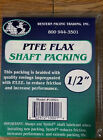 """New Western Pacific Trading PTFE Flax 1/2"""" Shaft Packing Teflon 2' Length Marine"""
