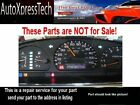 1997 to 2001 NISSAN ALTIMA INSTRUMENT CLUSTER REPAIR SERVICE Speedometer fix