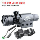 New Red dot Laser sight rifle gun scope w/ Rail & Barrel Mounts Cap Pressure