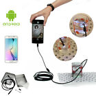 6LED 1M Waterproof Endoscope Borescope 7mm Lens Tube Snake Camera For Android