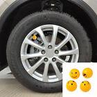 4pc Car Truck Bike Tire Air Valve Cover Stem Dust Caps Wheel Rims Cartoon Yellow
