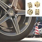 4PCS Car Wheel Tyre Tire Air Valves Dust Caps Stems Cover Wheel Rims Dice Beige