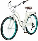 Women's Cruiser Bike 26 Schwinn Fairhaven 7-Speed Cream Bicycle Sports Goods New