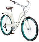 "26"" Women's 7-Speed Shimano Cruiser Steel Frame Bike Riding Cycling w/Fenders"