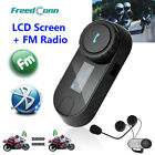 TCOM-SC W/Screen Bluetooth Motorcycle Motorbike Helmet 800M FM Intercom Headset