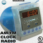Electro Brand Digital AM/FM Alarm Clock Radio - Monitor Style ~ Transparent Red!