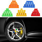 Yellow 19mm Silicone Hexagonal Car Wheel Hub Screw Cover Nut Caps Exterior Decal