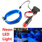 3M 12V Blue LED Light Glow EL Wire String Strip Rope Tube Car Interior Decor
