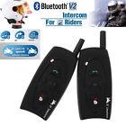 2 x BT 500M Motorcycle Interphone Bluetooth Helmet Intercom Headset for 2 Riders