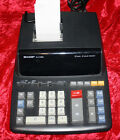 Sharp EL-2196BL Two Color Printing Calculator Black / Red Print