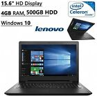 Lenovo Flagship High Performance 15.6 HD Laptop PC | Intel Celeron N3060