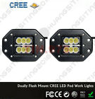 2PCS 18W LED Work Spot Square Light Bar 12V 24V Yacht Marine Boat Bow Lamp