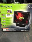 "Insignia Built In Dvd Player Black LCD Color Tv 19"" Inch Model NS-LTDVD 19-09"