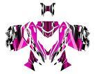 Ski Doo REV XM Summit graphics 2013 2014 2015 Skidoo wrap kit #2300 Pink