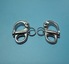 """PAIR OF 316 STAINLESS STEEL FIXED SNAP SHACKLE 2-5/8"""""""