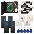 4 Door RFID Access Control Board Kit with Metal Power Box & 4pcs reader RFID key