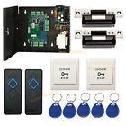 TCP/IP 2 Door Access Control Panel Kit with Power Supply Box + ANSI Strike Lock