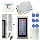 Metal Waterproof RFID Access Control Kit with EM lock+ Power Supply +Exit Button
