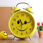 Fancy Large Smile Hammer bell Clock Analog Home Decor Modern Style Alarm Clocks