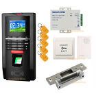 Access Control Door Home Entry Fingerprint Keypad RFID Card System + Strike Lock