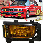 For 82-87 BMW E30 3 SERIES LEFT HAND LH FOG LIGHTS LAMPS CRYSTAL YELLOW LENS #