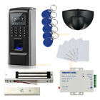Electric Mag Lock Fingerprint Access Control System kit with Exit Motion Sensor
