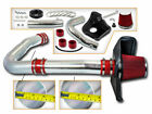 Cold Heat Shield Air Intake + RED Filter for 11-18 Challenger/Charger/300 3.6 V6